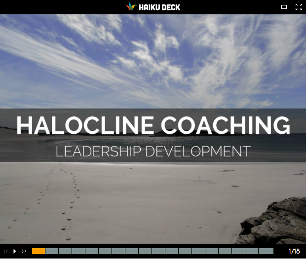 Halocline Coaching - Haiku Deck
